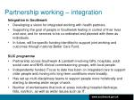 partnership working integration