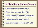 la plata basin stations sensors