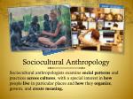 sociocultural anthropology
