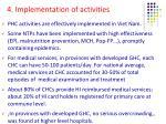 4 implementation of activities