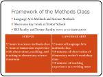 framework of the methods class