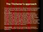 the titchener s approach