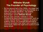 wilhelm wundt the founder of psychology