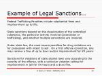 example of legal sanctions