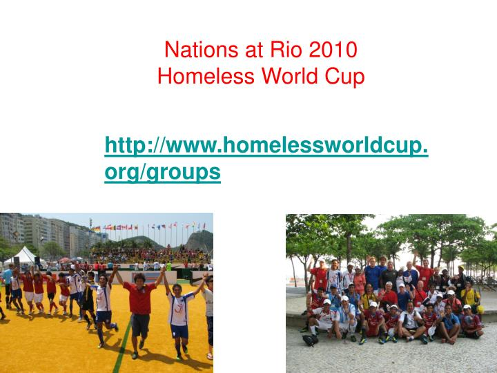 Nations at Rio 2010 Homeless World Cup