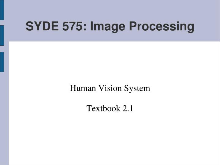 human vision system textbook 2 1 n.