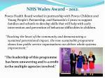 nhs wales award 2012