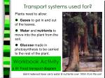 transport systems used for
