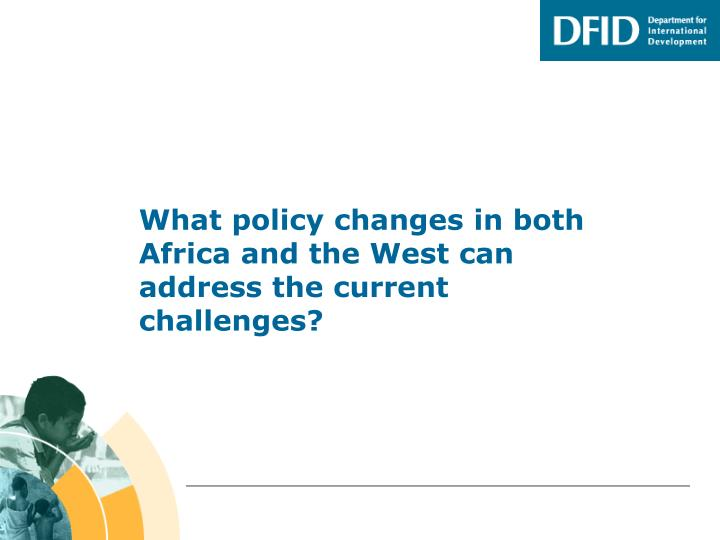 what policy changes in both africa and the west can address the current challenges n.
