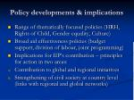 policy developments implications