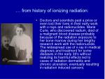 from history of ionizing radiation