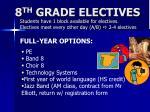 8 th grade electives