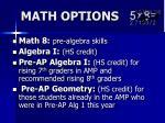math options