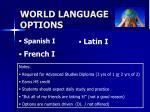 world language options