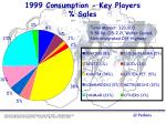 1999 consumption key players sales