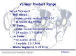 yanmar product range