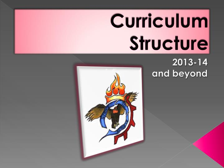 curriculum structure n.