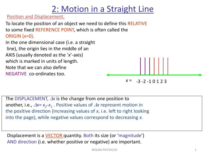 2 motion in a straight line n.