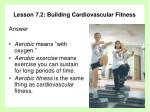 lesson 7 2 building cardiovascular fitness2