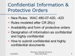 confidential information protective orders