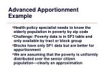advanced apportionment example