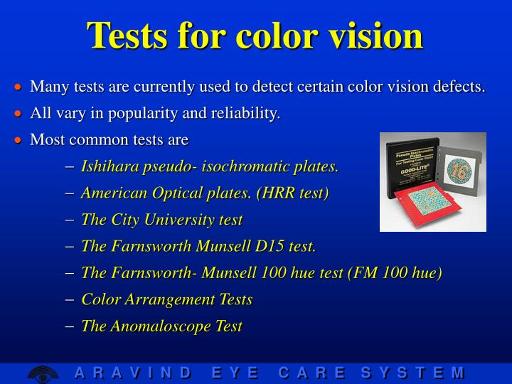 Tests for color vision