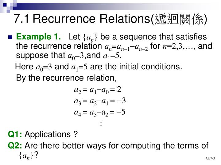 Chapter 6. 1: recurrence relations discrete mathematical structures.