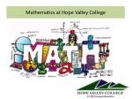 mathematics at hope valley college1