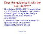 does this guidance fit with the ec directive