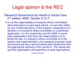 legal opinion the rec