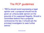 the rcp guidelines