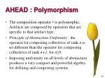 ahead polymorphism