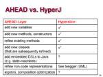 ahead vs hyperj