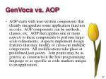 genvoca vs aop