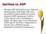 genvoca vs aop2