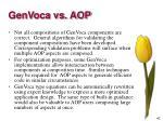 genvoca vs aop4