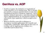 genvoca vs aop6