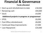 financial governance funds allocated