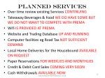 planned services