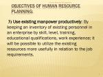 objectives of human resource planning1
