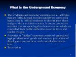 what is t he underground economy