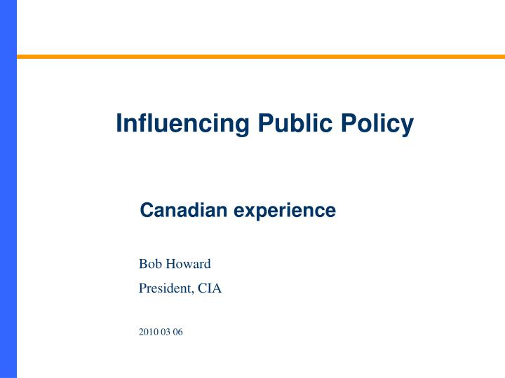 influencing public policy n.