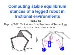computing stable equilibrium stances of a legged robot in frictional environments