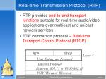 real time transmission protocol rtp