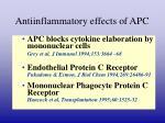antiinflammatory effects of apc