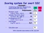 scoring system for overt dic1