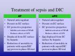 treatment of sepsis and dic3