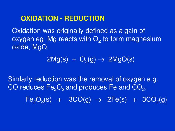 Ppt Chemistry 27 As 90306 Describe Oxidation Reduction