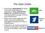the state media