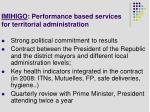 imihigo performance based services for territorial administration